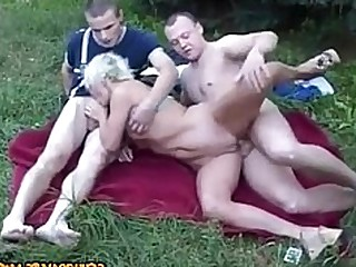 Creampie Gang Bang Public Threesome